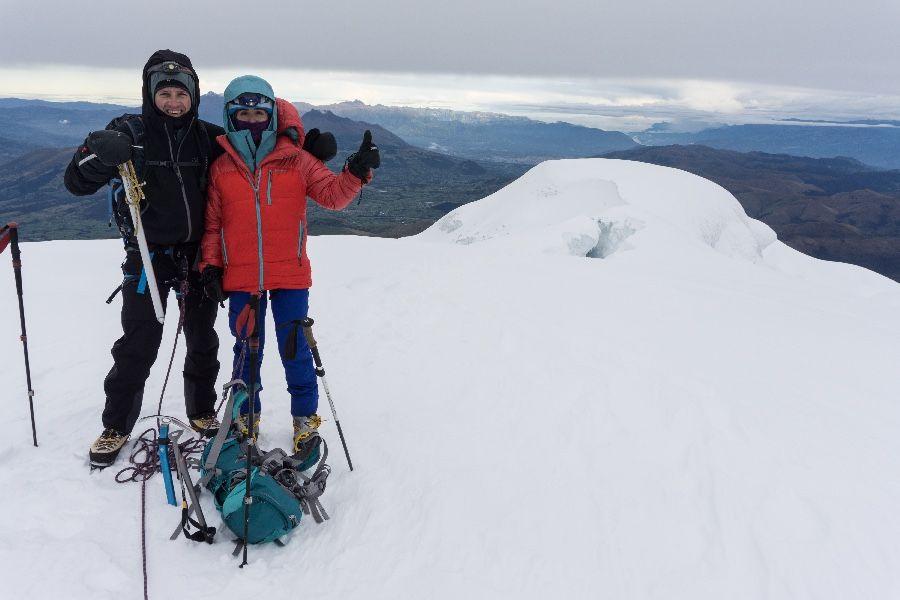 Refugio Cayambe, 4,600 msnm.