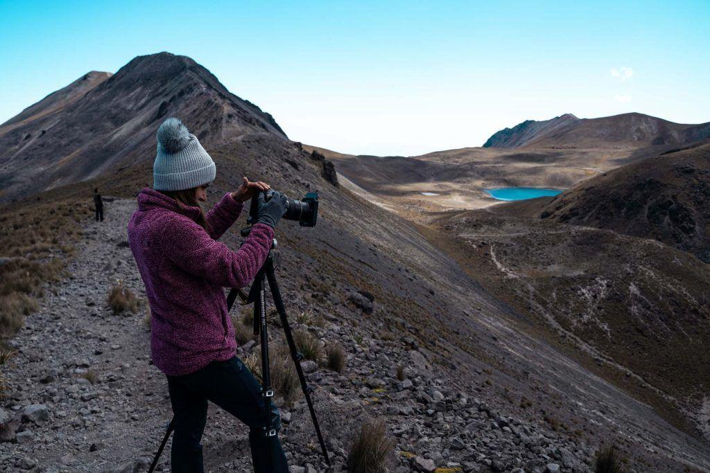 fotografía en la montaña